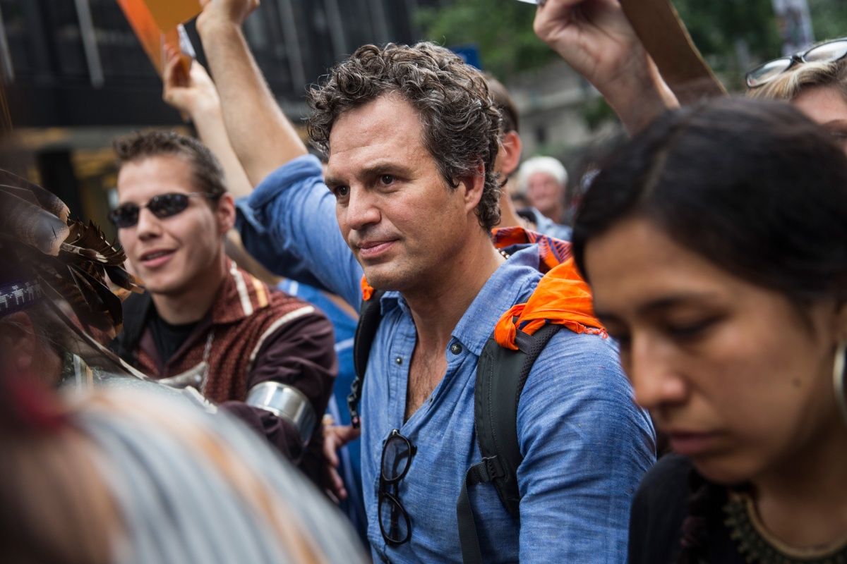 "Actor Mark Ruffalo urging Americans to unit to oppose Trump's ""harmful policies"". Photo: Getty"