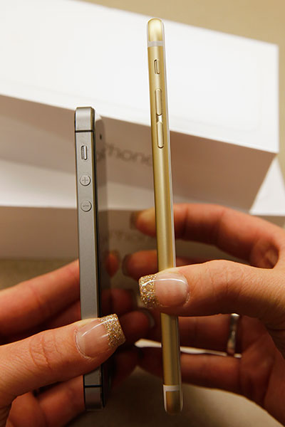 The iPhone 5s stacks up against the 6 plus.