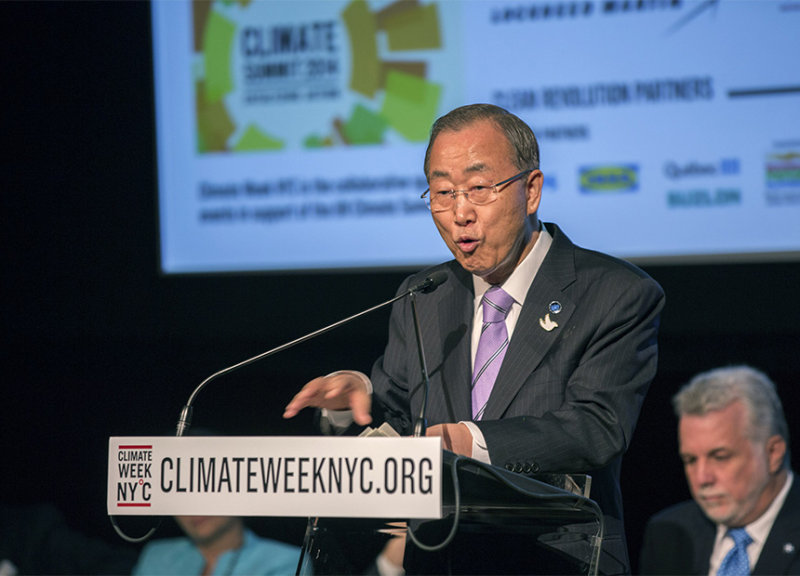 Ban-Ki-Moon-Getty UN Secretary General Ban Ki-moon at Climate Week in New York.