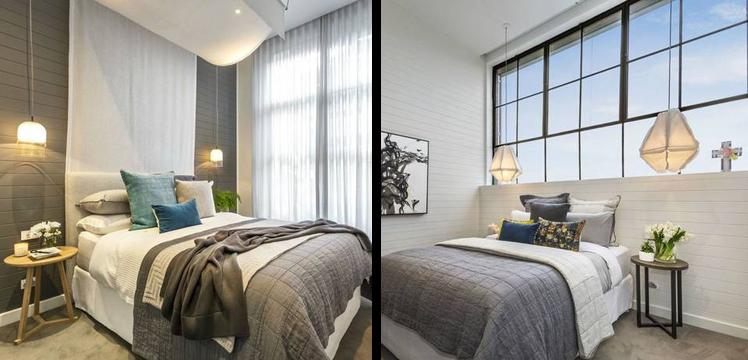 Darren and Dee's apartment bedrooms. Source: Supplied.