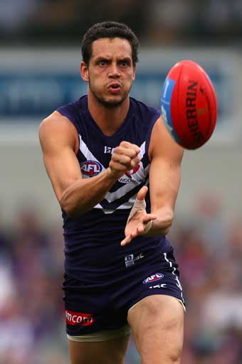 Michael Johnson has been a key man in Fremantle's defence. Photo: Getty