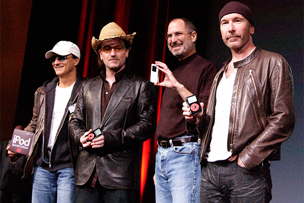 U2-Steve-Jobs - Getty