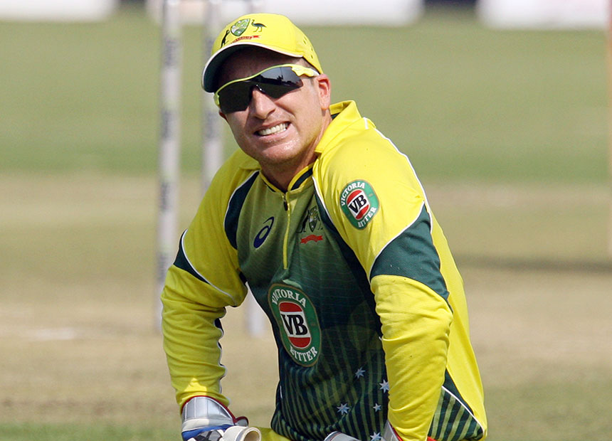 Brad Haddin rues another one that got away.