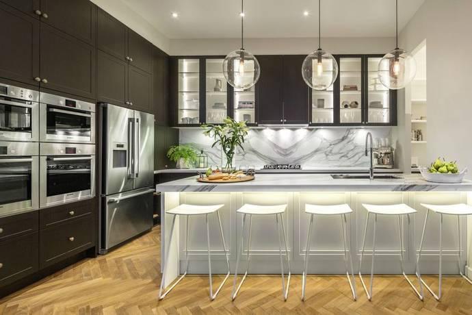 Darren and Dee's apartment kitchen. Source: Supplied.