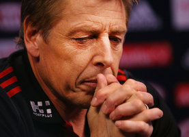 Mark Thompson is pondering his future as a Bomber.