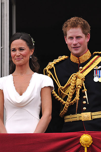 Pippa and Harry on their siblings' wedding day.