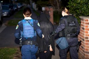 Police arrest a suspect in Sydney's north-west suburbs.