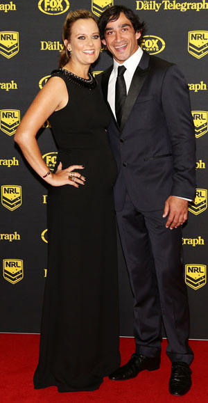 Thurston and partner Samantha Lynch arrive at the awards. Photo: Getty