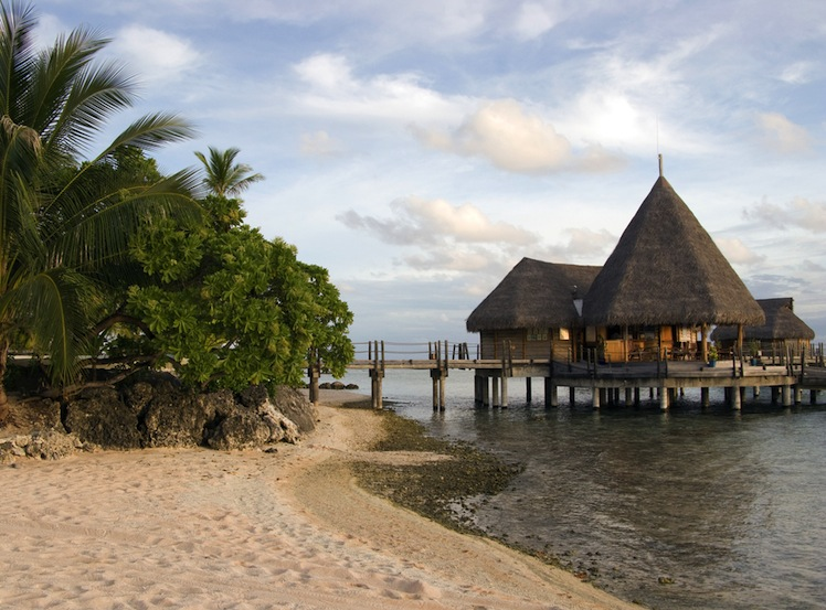 An over-water bungalow in Tikehau. Photo: Shutterstock