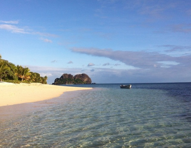 A beach on the island of Vomo. Photo: Instagram