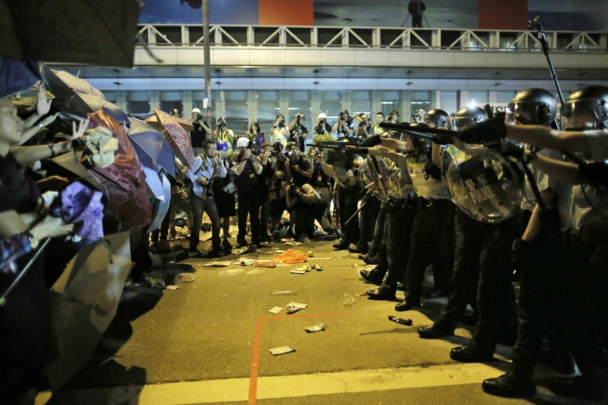 Hong Kong protest AAP