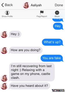 Tinder hookup scams