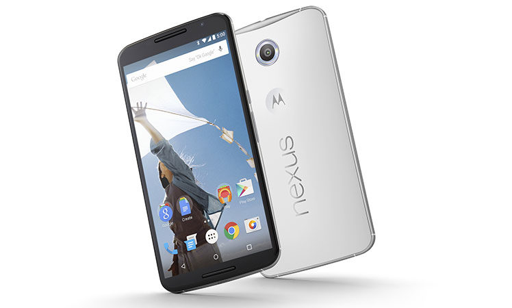 The Nexus 6 smartphone.