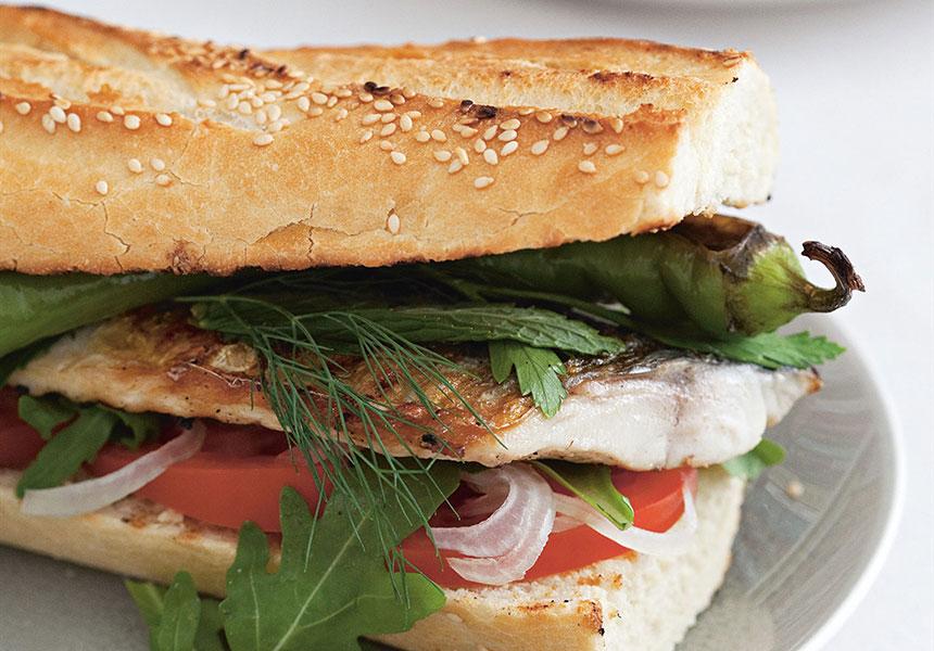 Moroccan kefta sandwich recipe the new daily for Best fish sandwich near me