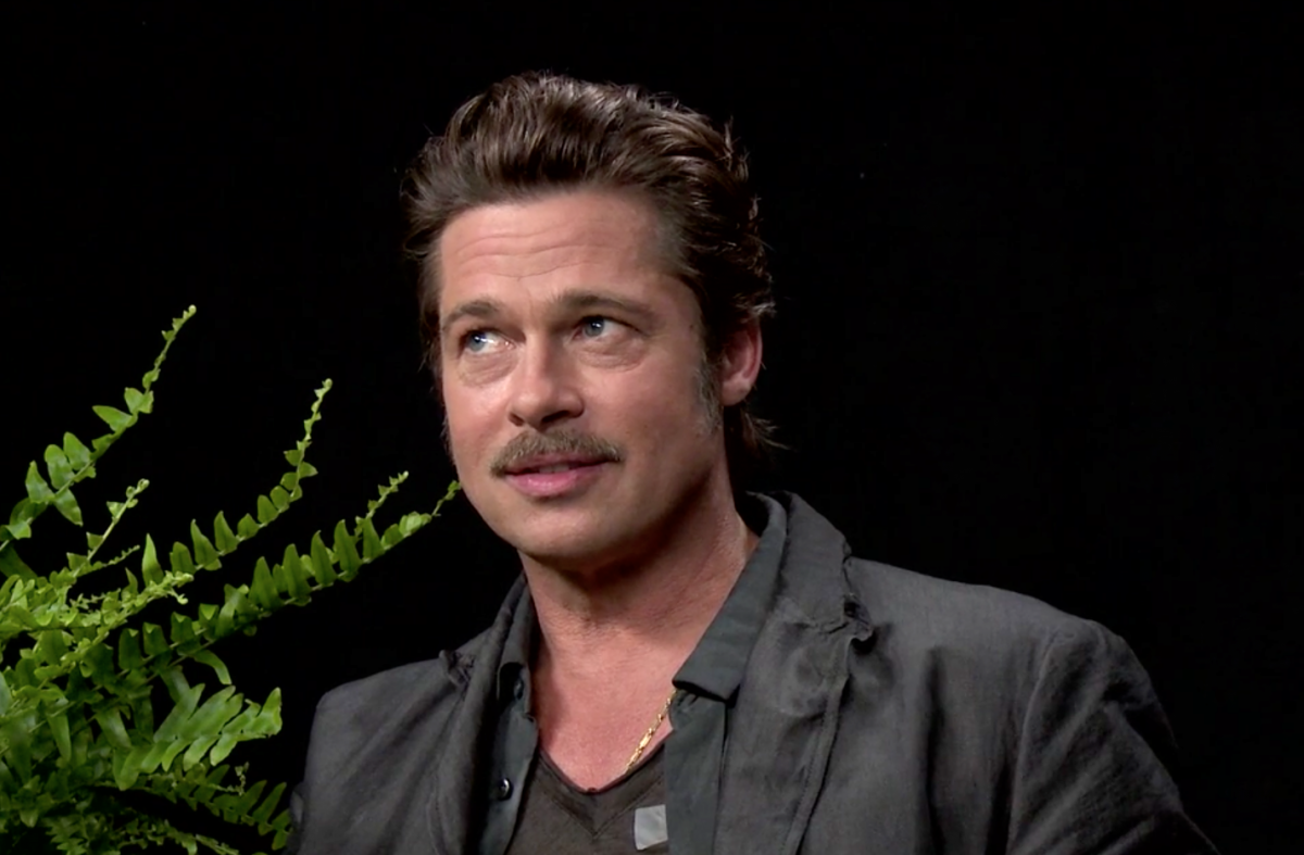 video brad pitt gets caught between two ferns the new daily