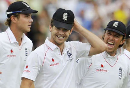 Broad, Swann and Anderson: whingers. Photo: Getty