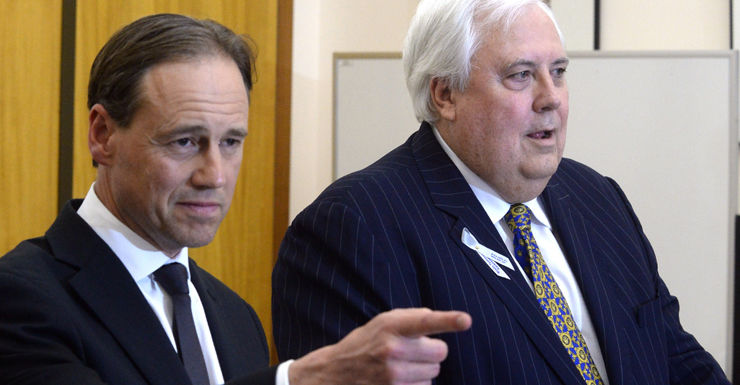 Greg Hunt Clive Palmer