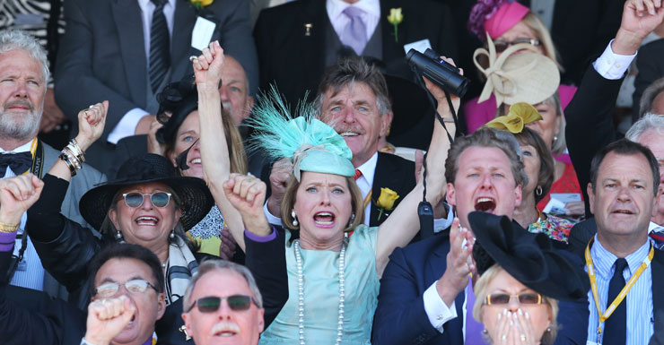 Gai Waterhouse celebrates Melbourne Cup win