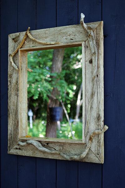 Mirrors work wonders in the garden.