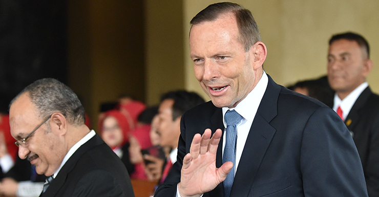 Tony Abbott at the swearing in of Indonesia's new president.
