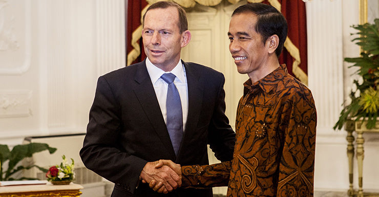Tony Abbott with Indonesian President Joko Widodo