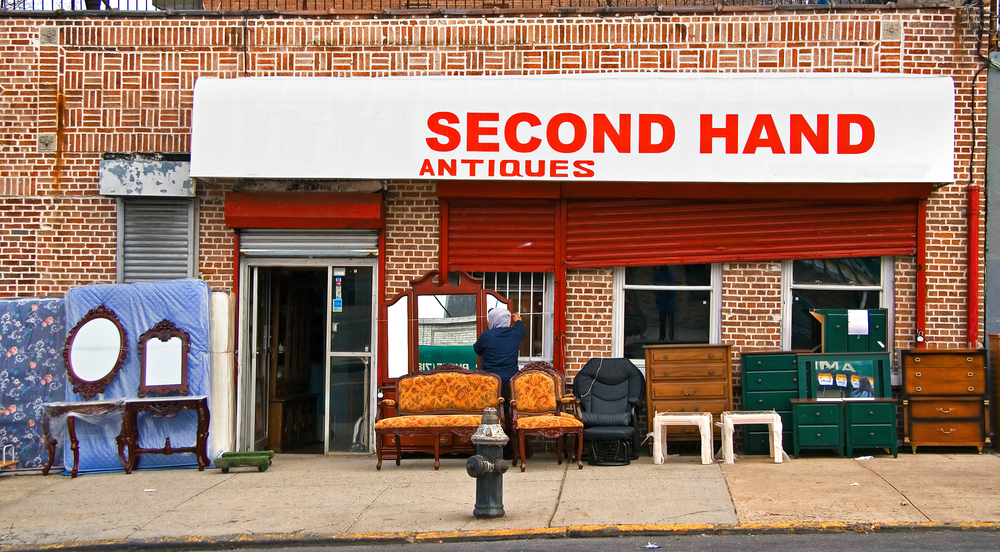money second hand shop vintage thrift furniture
