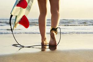 surfing, woman, beach, ocean