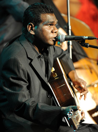 Professor Spurr mocked singer Geoffrey Gurrumul Yunupingu. Photo: Getty