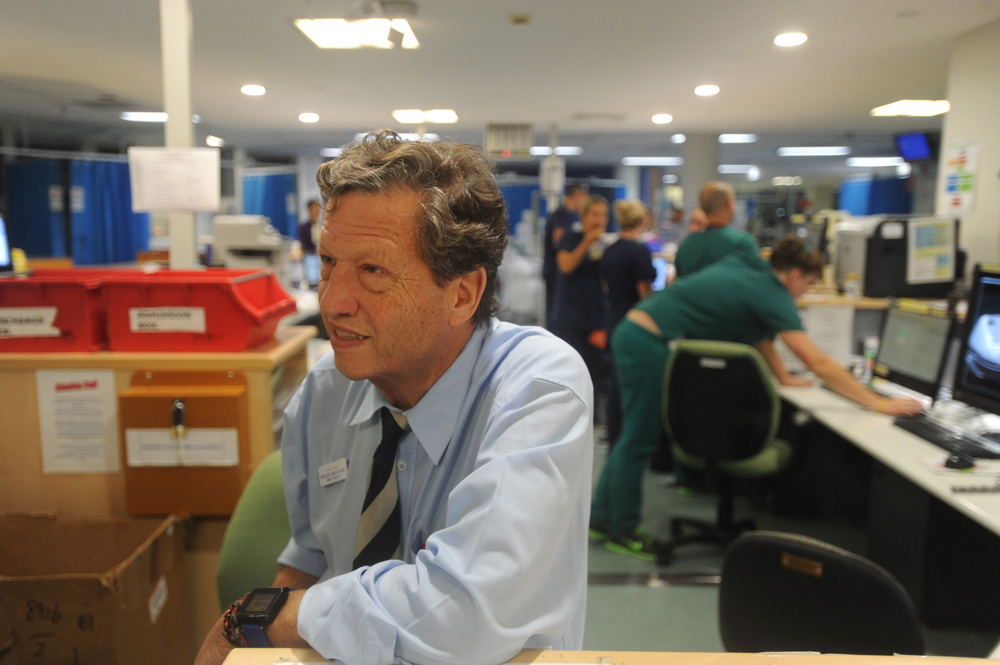 Doctor Gordian Fulde in the emergency department of Sydney's St Vincent Hospital.