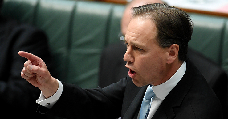 Environment Minister Greg Hunt. Question Time. October 30 2013. AAP