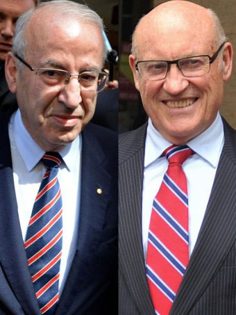 Eddie Obeid and Ian Macdonald. Photo: AAP