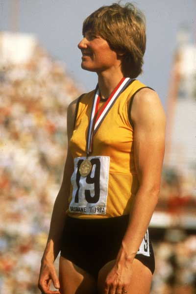 Raelene Boyle during the 1982 Commonwealth Games in Brisbane. Photo: Getty