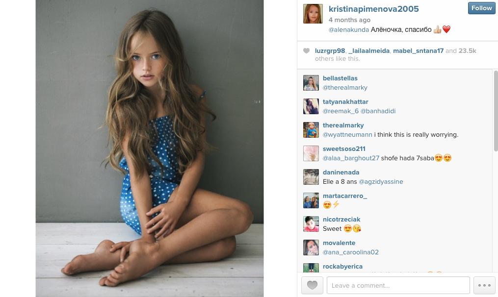 The child model with two million followers i the new daily kristina pimenova altavistaventures Images