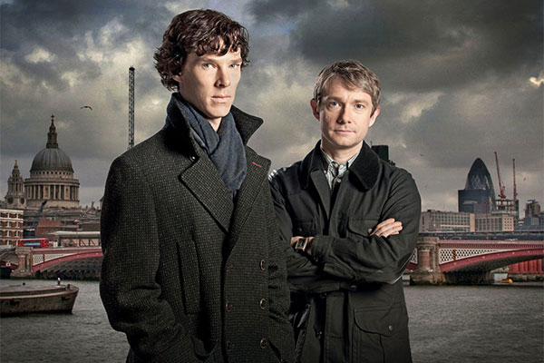 How deserpate are you to watch new episodes of shows like Sherlock, starring Benedict Cumberbatch and Martin Freeman. Photo: Supplied