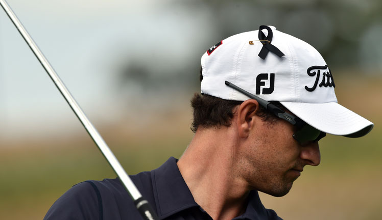 Adam Scott's personal tribute during the Australian Open. Photo: Getty