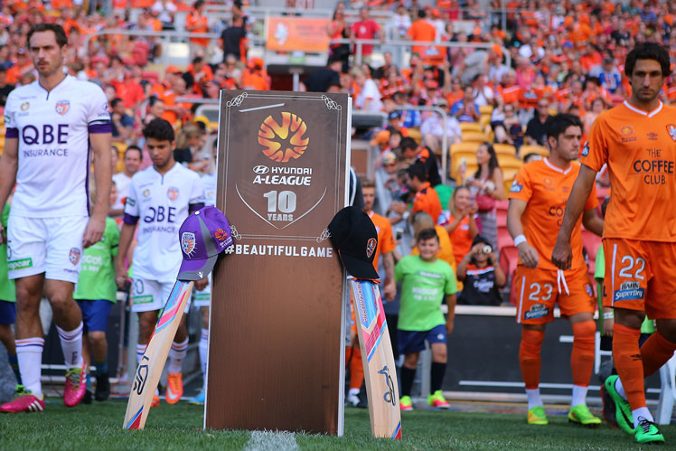 Brisbane Roar and Perth Glory join in the #putoutyourbats campaign. Photo: Getty