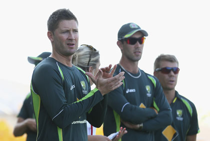 Michael Clarke could only applaud the total dominance of his opposition. Photo: Getty