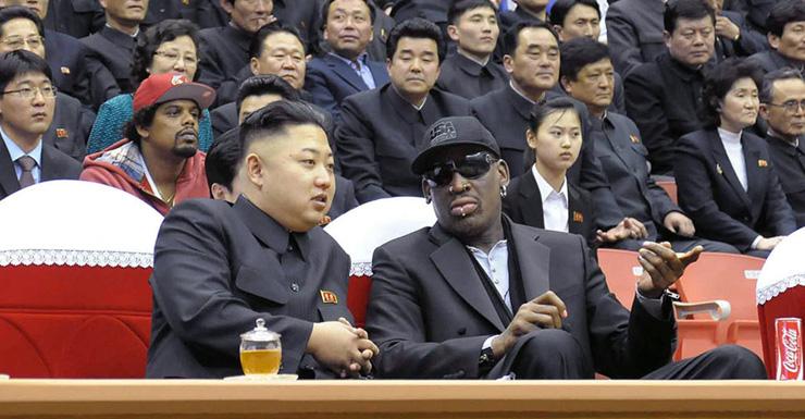 Dennis Rodman and Korean Leader Kim Jong-un