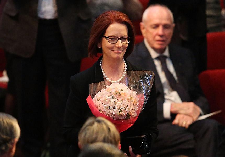 Julia Gillard at Gough Whitlam's memorial