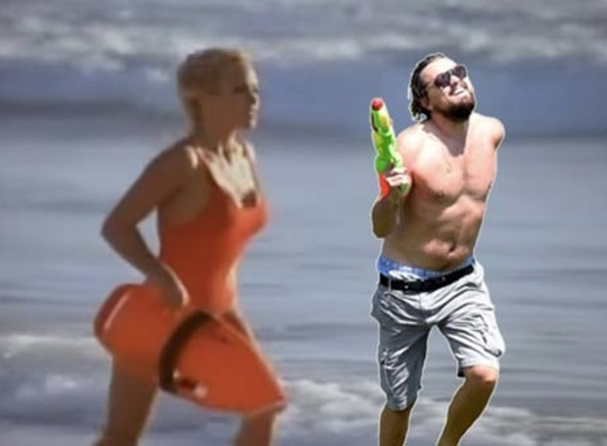 An internet meme inspired by DiCaprio's offscreen antics.
