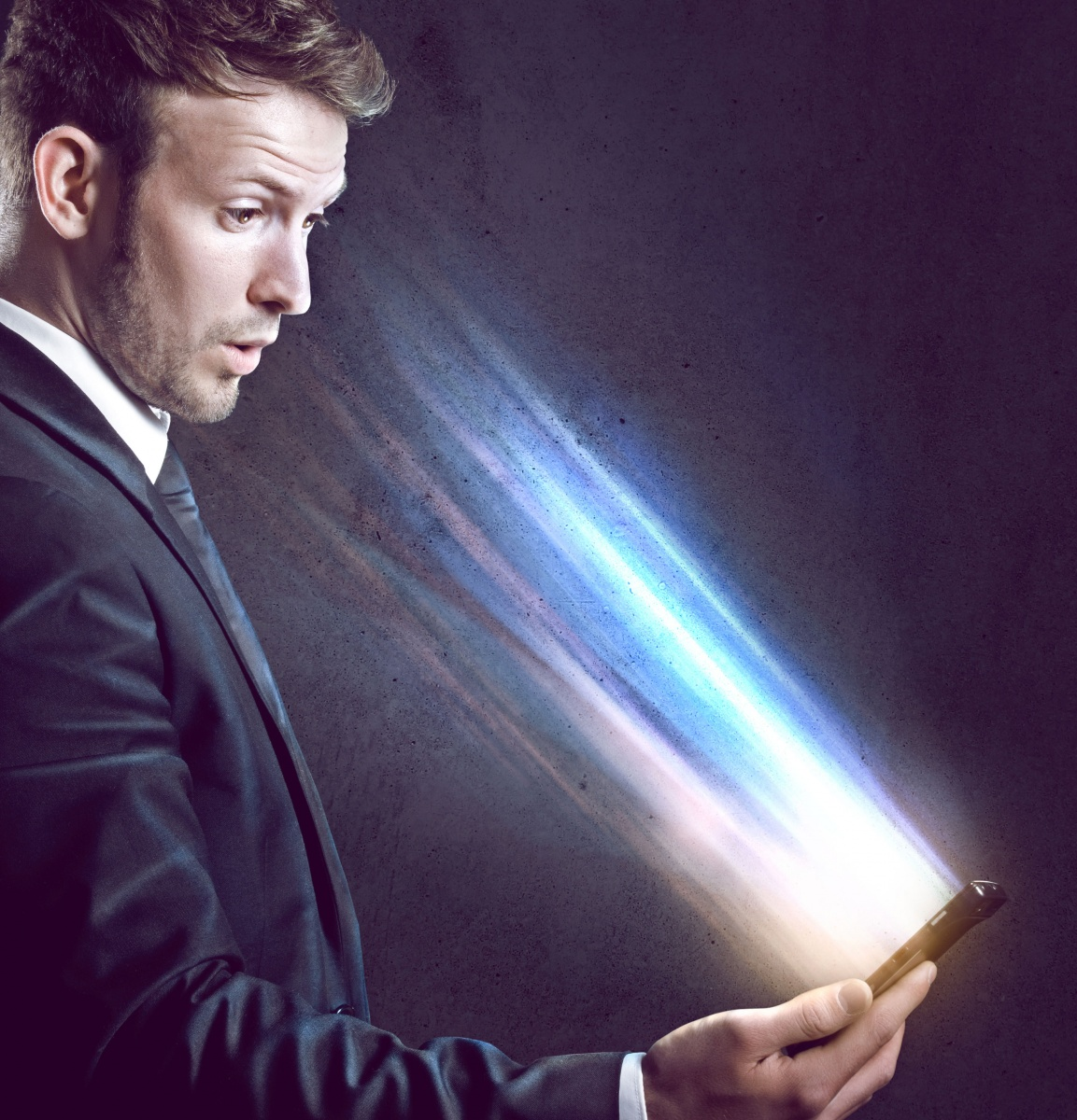 man smartphone revived