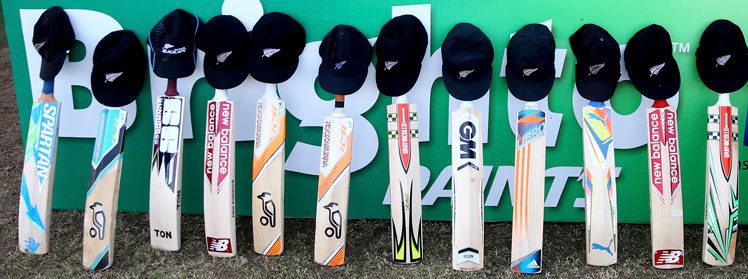 Bats outside the NZ dressing room. Photo: Getty