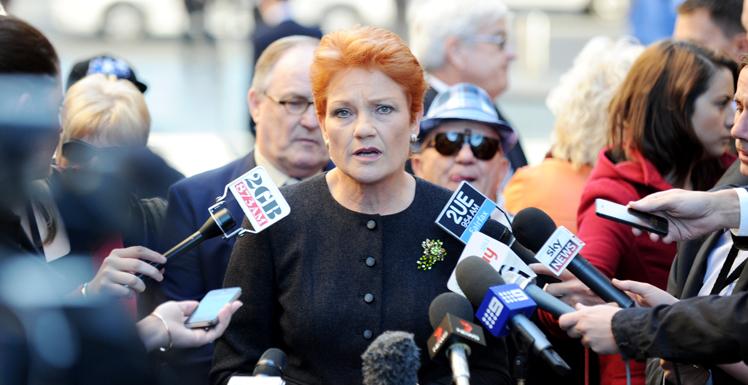 Former One Nation leader Pauline Hanson