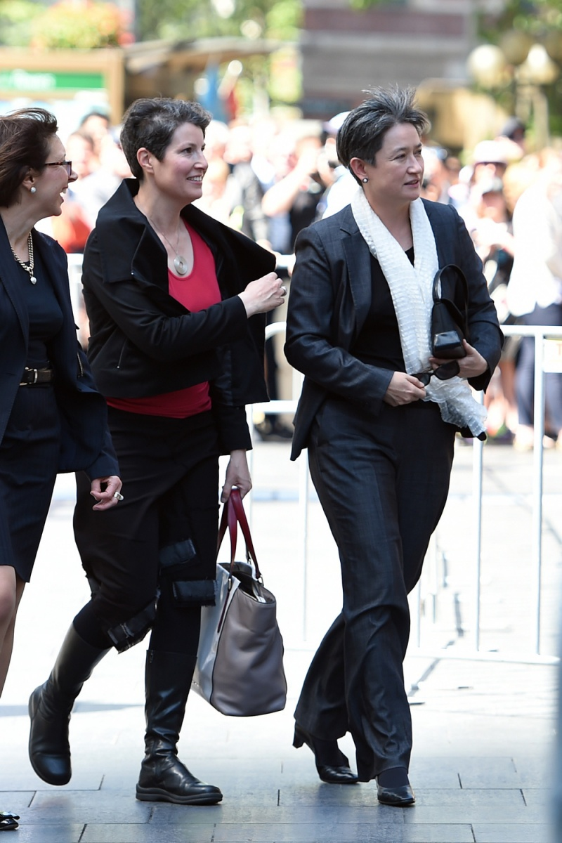Gough whitlam memorial service photos i the new daily labor senator penny wong arrives with partner sophie allouache thecheapjerseys Gallery