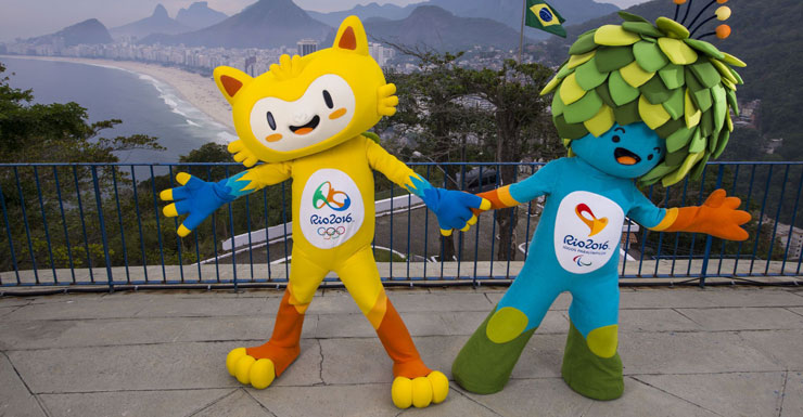 Mascots for the Rio 2016 Olympic Games and Rio 2016 Paralympic Games.