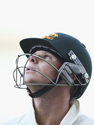 Steven Smith after being trapped lbw for 97. Photo: Getty