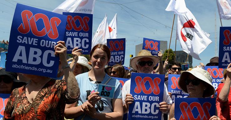 ABC budget cuts protests