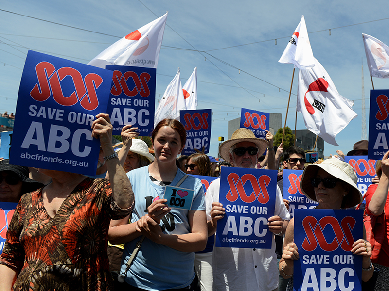 ABC CUTS RALLY MELBOURNE
