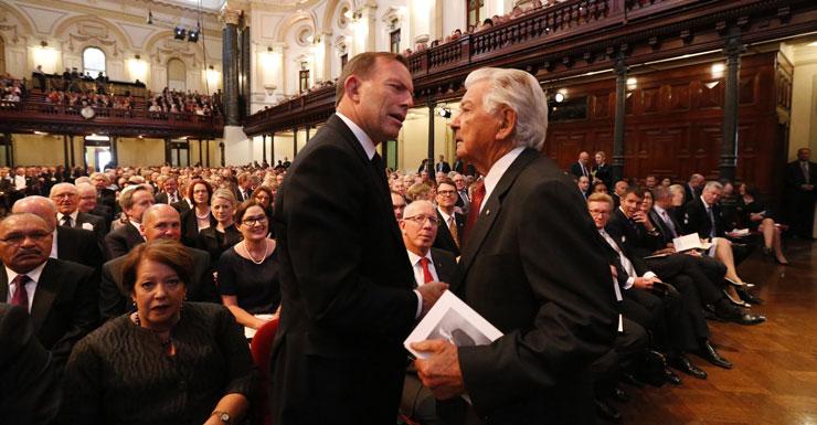 Tony Abbott and Bob Hawke