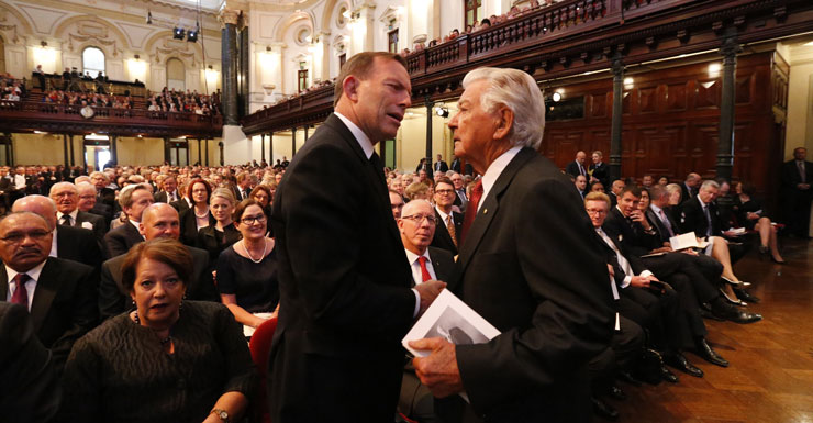 Tony Abbott botches attempted tribute to Labor icon Bob Hawke